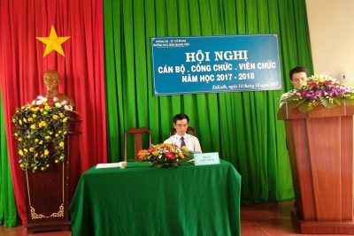 Hội nghị Cán bộ – Công chức – Viên chức trường THCS Trần Quang Diệu năm học 2017 – 2018