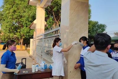 Công tác phòng, chống dịch Covid-19 tại Trường THCS Trần Quang Diệu