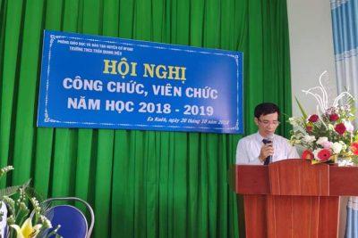 HỘI NGHỊ CCVC NĂM HỌC 2018 – 2019 TRƯỜNG THCS TRẦN QUANG DIỆU